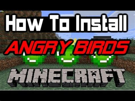 mods in minecraft how to install how to install angry birds mod for mac pc minecraft mod