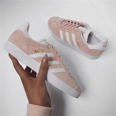 gazelle baskets basses vapour pink white gold metallic chaussure basket femme tendance et