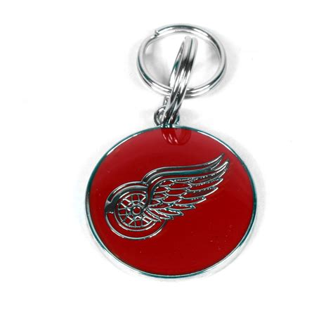 engraved id tags detroit wings engraved pet id tag by yellow design