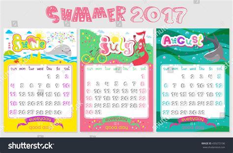 Calendrier Doodle Doodle Calendar Design 2017 Year Vector Stock Vector