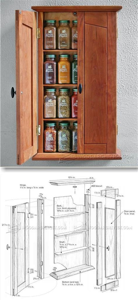 Cabinet Door Spice Rack Plans Cabinet Plans Spice Cabinets And Furniture Plans On Pinterest