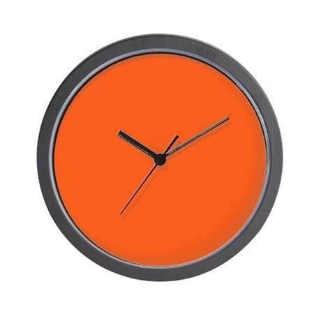 modern orange wall clock modern plain orange wall clock by admin cp62325139