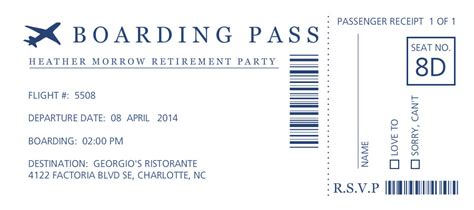 boarding pass template free retirement invitations boarding pass retirement