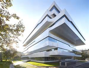 design build architecture zaha hadid s dominion office building in moscow boasts a