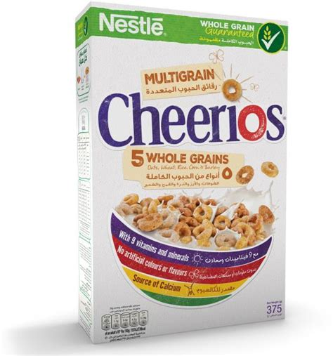 cheerios 4 whole grains nestle cheerios multi whole grains breakfast cereal 375