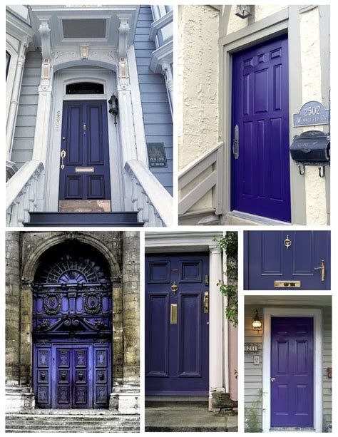 exterior color inspirations the regal dramatic purple painted door house appeal