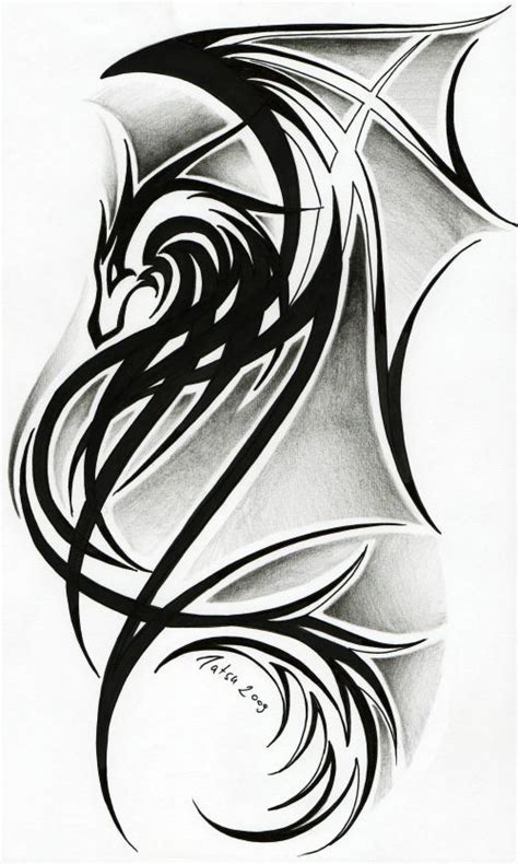 dragon tribal tattoo design celtic tribal tattoos ii by