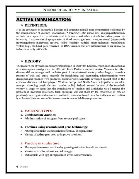 Modified Vaccine Definition by Introduction To Immunization