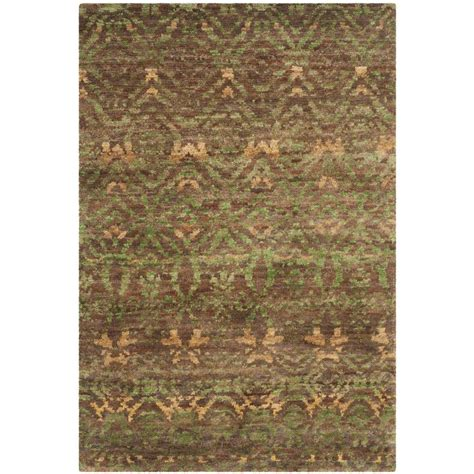 Safavieh Bohemian Green Brown 4 Ft X 6 Ft Area Rug 4 Ft Area Rugs