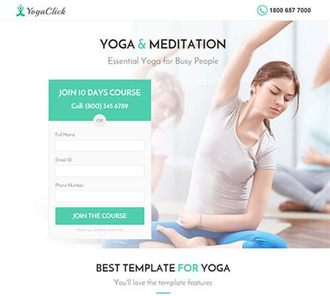 Medical Spa Yoga Fitness Muse Landing Page Template Landing Download Cms Themes Plugins Fitness Landing Page Templates