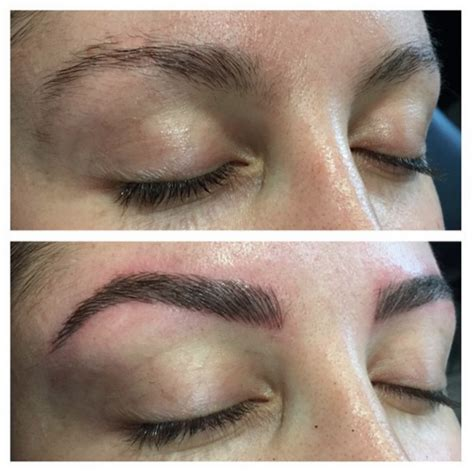 beautiful feather touch brow tattoos done by myself kelly eyebrow makeover vs feather touch tattooing alison jade