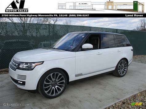 2016 Fuji White Land Rover Range Rover Supercharged