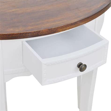 acheter console demi ronde avec tiroir blanche et plateau