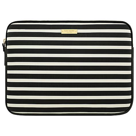 Kate Spade Estonia 6021 buy kate spade new york stripe monochrome 13 quot laptop sleeve black white lewis