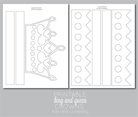 printable crowns for preschoolers printable kings and queens crown free printable the