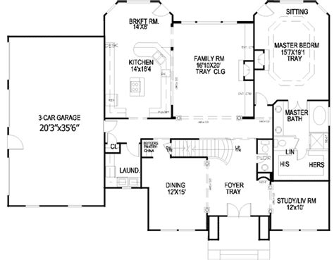 Georgian House Plans Georgian Style House Plans Plan 24