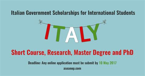 Mba Programs Scholarships International Students by Italian Government Scholarships For International Students