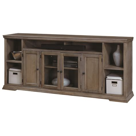 75 tv console table aspenhome creek 84 inch tv console with 4 doors and