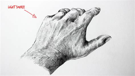 light source art definition how to draw hands