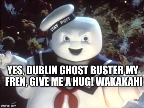 Give Me A Hug Meme - stay puft marshmallow man imgflip
