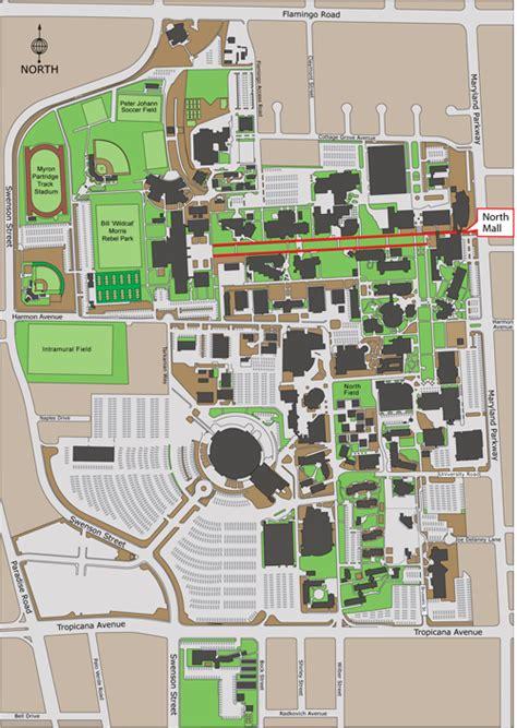 unlv map mall maps parking of nevada las vegas