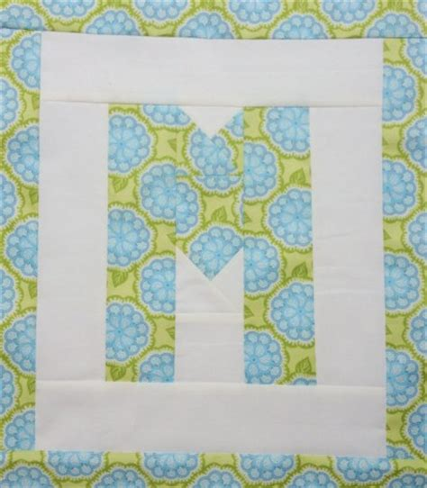 Letter Quilt Pattern Easy As Abc Qal Letter M Blossom Quilts