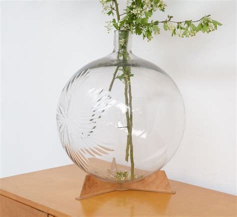 glass globe vase glass globe pharmacy vase by val