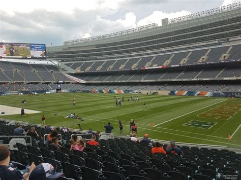 soldier field section 130 soldier field section 130 chicago bears rateyourseats com