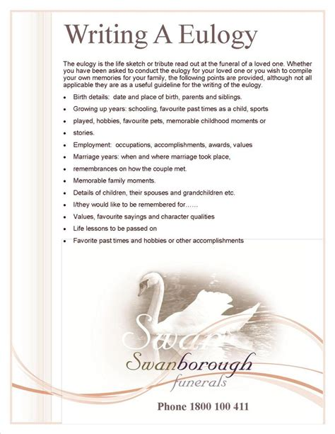 how to write a eulogy template 17 best images about memorial ideas on
