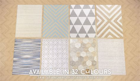 Patterned Rug by Sims 4 Updated Patterned Jute Rugs In 32 Styles