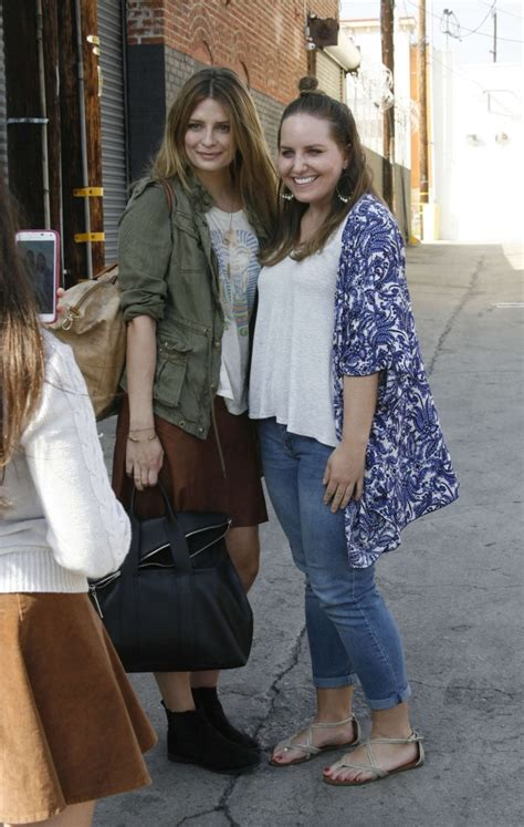 The Mccall Skirt That Mischa Barton Wore Is Now At Outfitters by Mischa Barton In Mini Skirt At Dwts Studio 13 Gotceleb