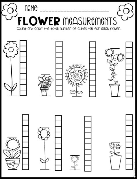 printable spring worksheets for preschoolers little giggles and wiggles spring math and literacy