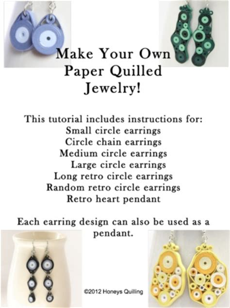 paper quilling jewellery tutorial pdf tutorial for paper quilled jewelry pdf retro circles
