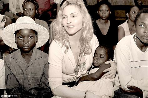 Madonna And Adopted David by Madonna Faces Talks With Mercy S Real Family In