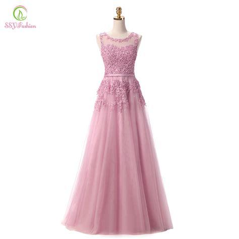 Pink Sweet Lace Dress 17835 aliexpress buy robe de soiree 2016 new sweet pink