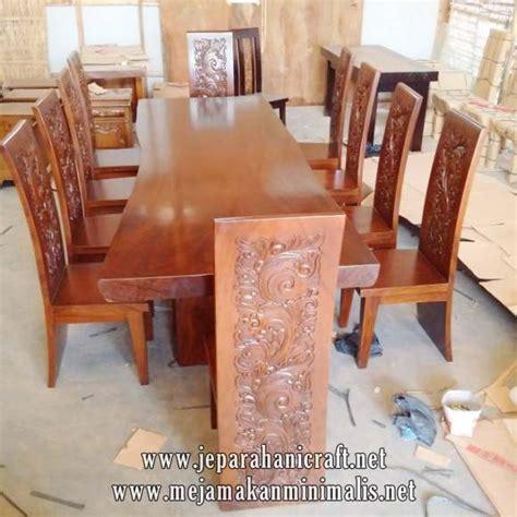Meja Makan Enam Kursi jual set meja makan kayu utuh kursi majapahit harga murah