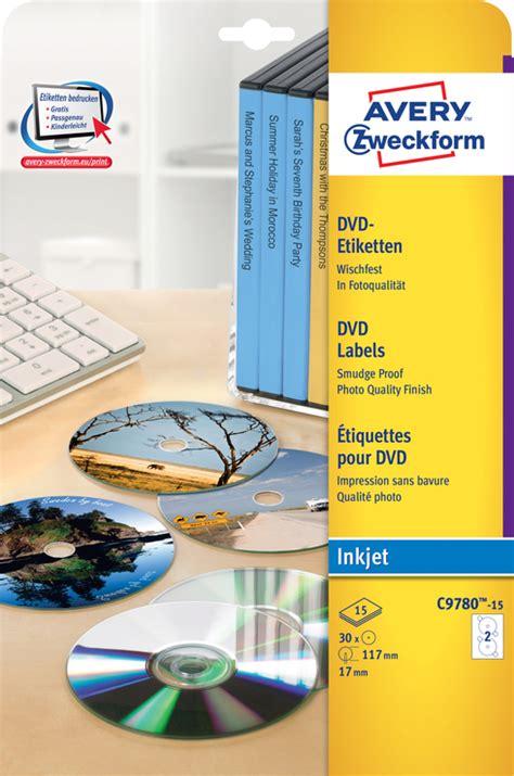 Dvd Etiketten Drucken Kostenlos by Avery Zweckform Dvd Etiketten G 252 Nstig Kaufen Papersmart