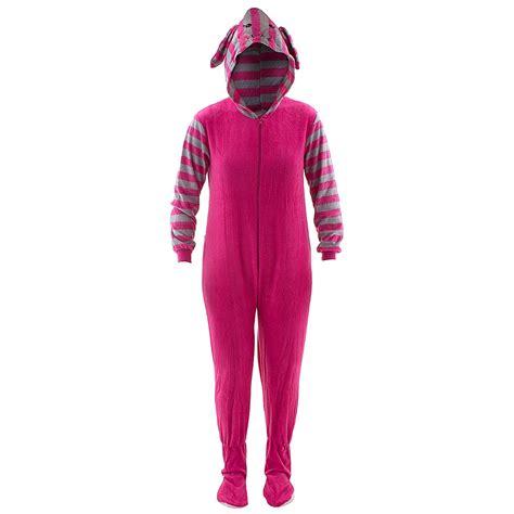 footie pajamas pink cat striped footed pajamas for