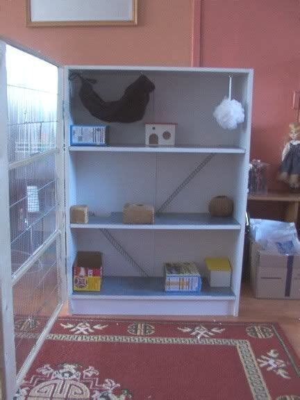 converted wooden bookcase cage for small pets guinea pig