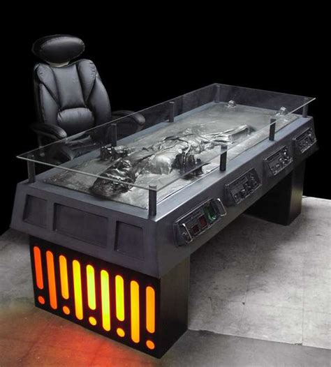 Creepy Furniture by Creepy Furniture Han In Carbonite Desk