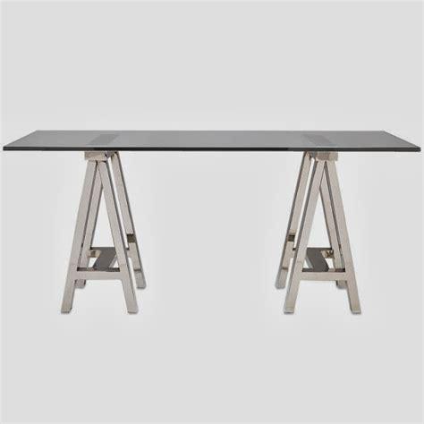 Glass Top Desk by Copy Cat Chic Williams Sonoma Glass Top Desk