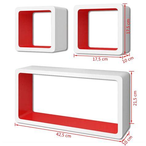 mensole bianche articoli per 3 mensole per pareti bianche rosse mdf per