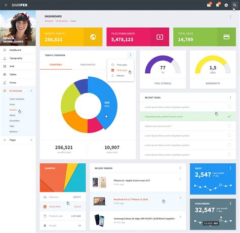 30 free psd admin dashboard template design on air code
