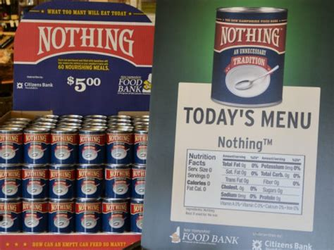 Nh Food Pantry by Nh Food Bank Launches Nothing Fundraising Caign Patch