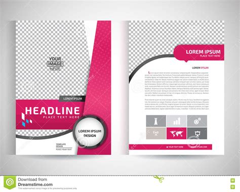 Pink Annual Report Brochure Flyer Design Template Vector Leaflet Cover Presentation Abstract Flyer Template Vector