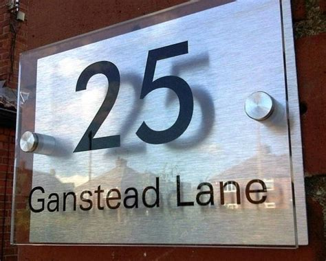 Glass Door Numbers Plaques Modern House Sign Plaque Door Number Glass Effect For Sale In Dublin 1 Dublin From Jayfaye