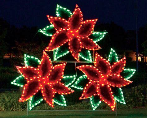 holiday lights poinsettia cluster commercial holiday