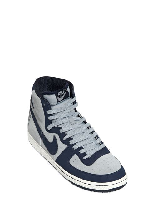 vintage high top sneakers nike terminator vintage high top sneakers in blue for