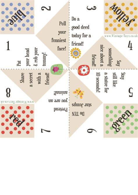 Finger Origami Fortune Teller - free paper fortune teller printable templates origami