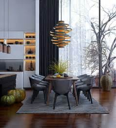 Modern Dining Room Decorating Ideas Dining Room Modern Lighting Dining Room Carpet Pattern Chairs Table Wooden Floor Cabinet